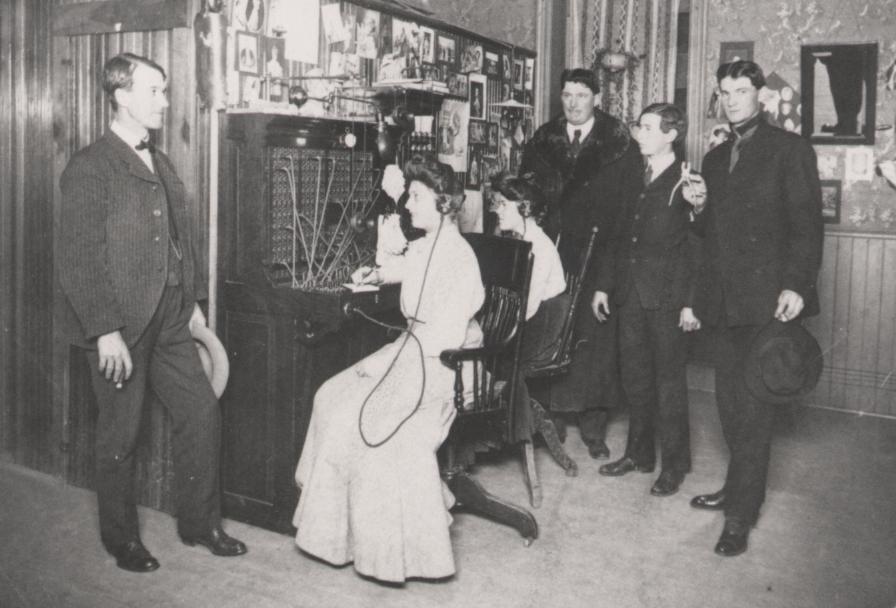 Телефонная компания  и ее служащие, 1904 г.