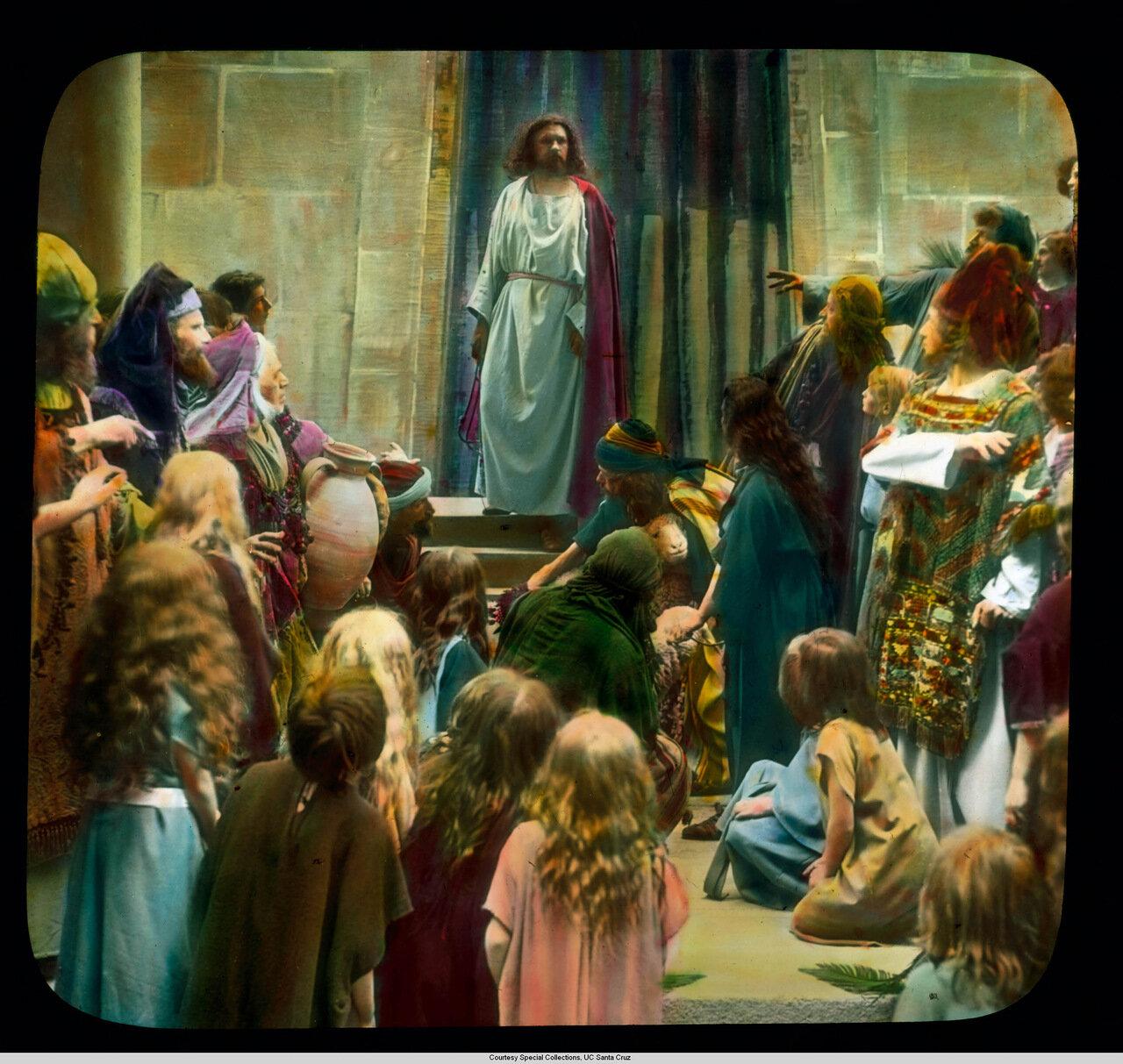 Обераммергау. Страсти Христовы. Христос проповедует во Храме
