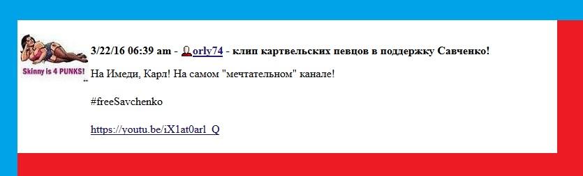 Савченко, приговор, Грузия