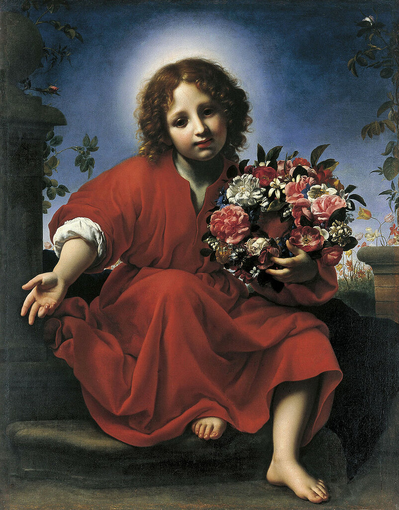 Jesus with flowers (1663) Carlo Dolci