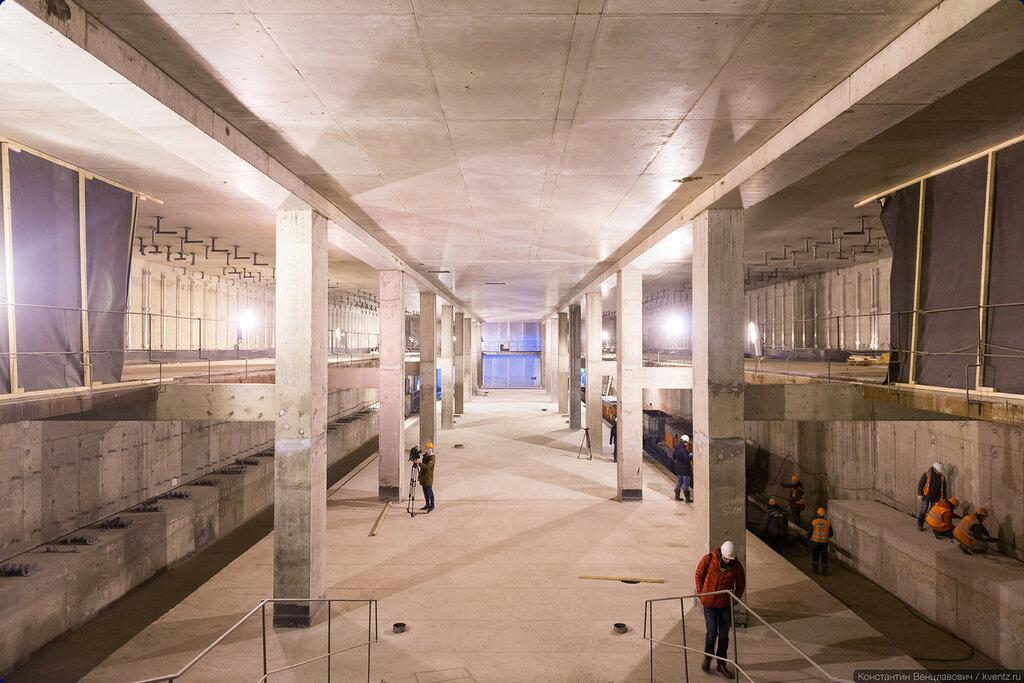 Платформа станции уже готова в конструкциях