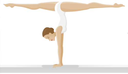 гимнастка на бревне