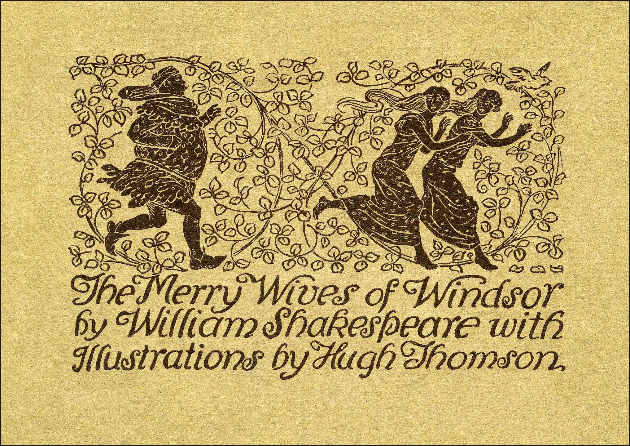 Hugh Thomson, The merry wives of Windsor