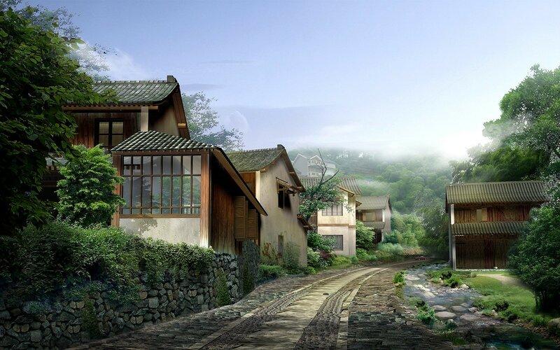 Красивые китайские пейзажи. Фотографии природы Китая, похожей на картины 0 1c4d57 5d30a346 XL