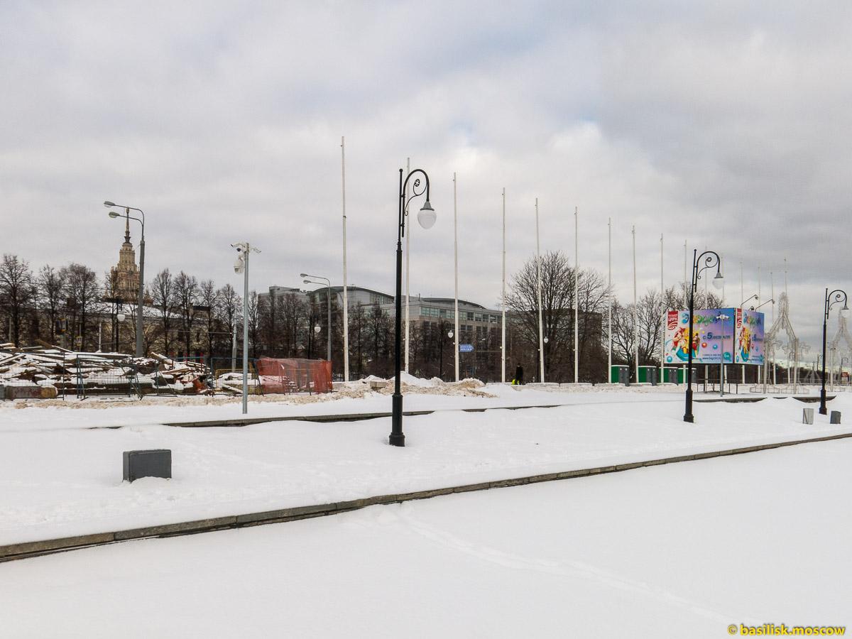 Зимняя Москва. Метро Университет. Цирк на проспекте Вернадского. Февраль 2016