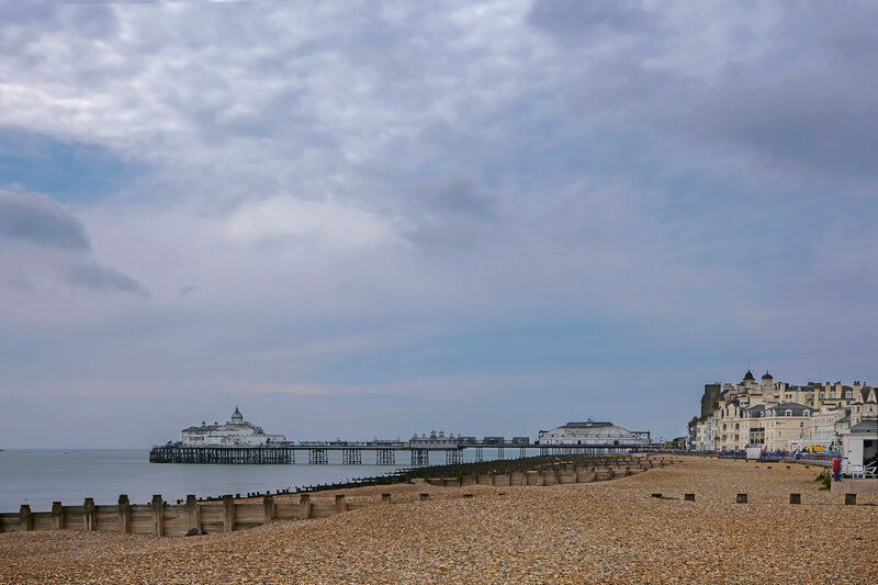 Panoramic view of the pier at Eastbourne