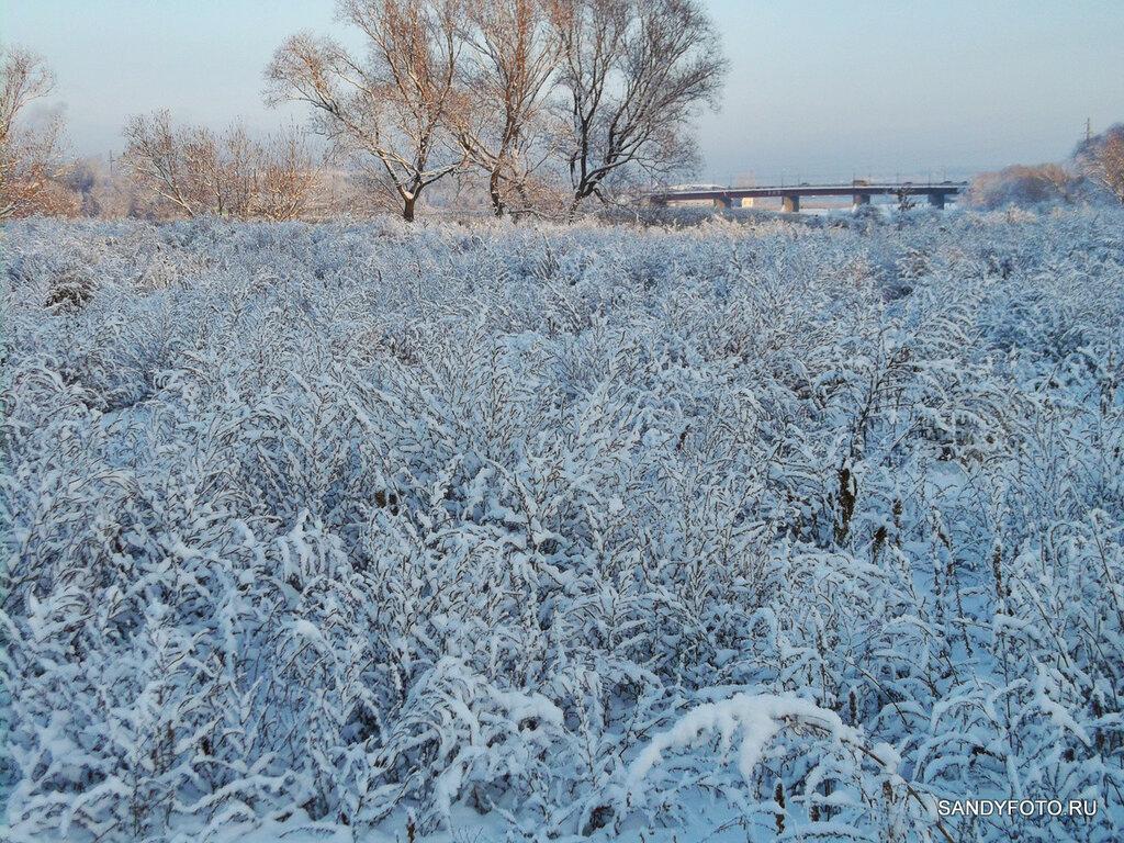 Зимний пейзаж возле реки Увельки