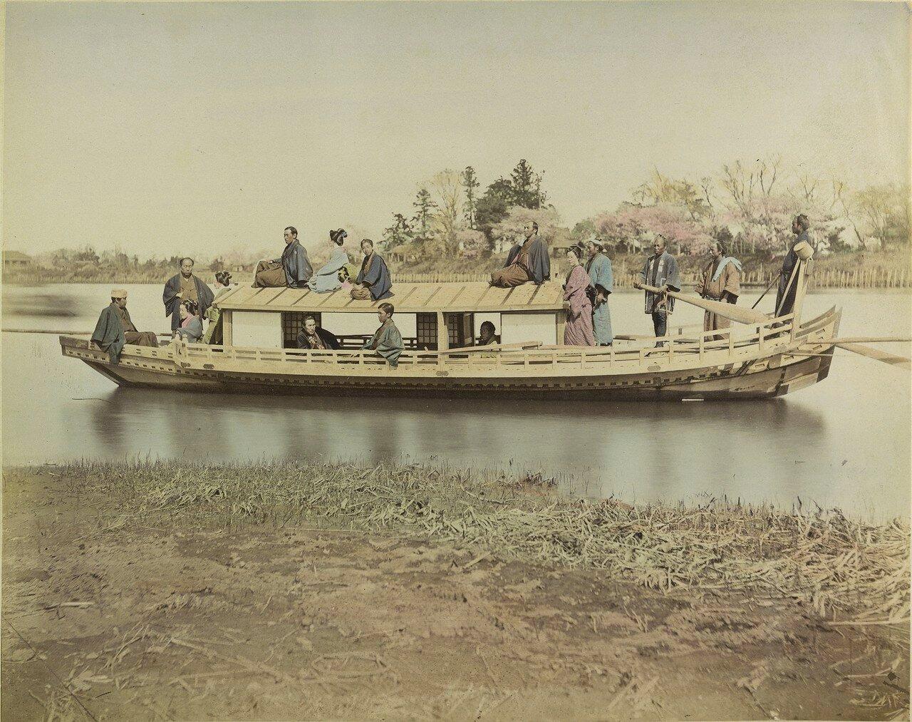 Катание на лодках по реке