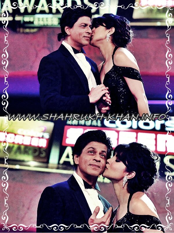 SRK & Priyanka - 19 Annual Screen Colours Awards - january 2013