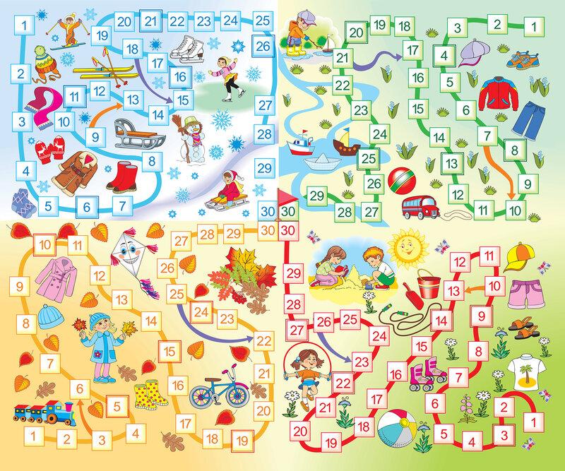 Настольные игры в картинках для детей своими руками