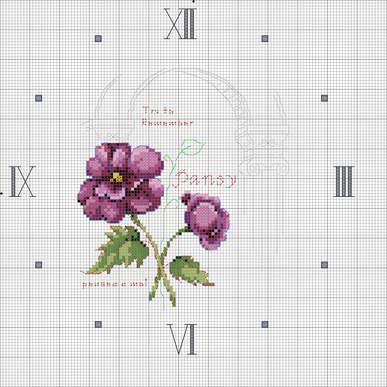 Легкая вышивка крестом цветы