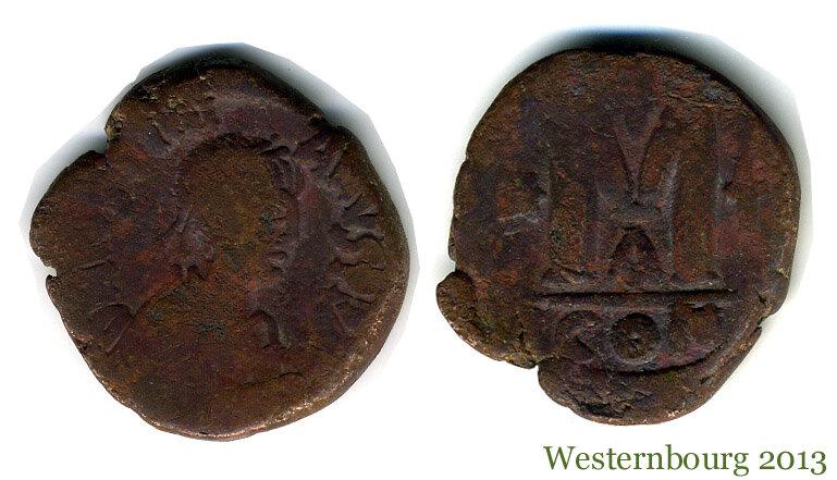 Константинополь. Анастасий I 491 – 518 гг. Фоллис малого диаметра, 498 - 512 гг.