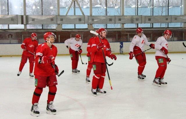 Тренировка хоккеистов «Спартака» перед матчем с «Донбассом» (Фото)