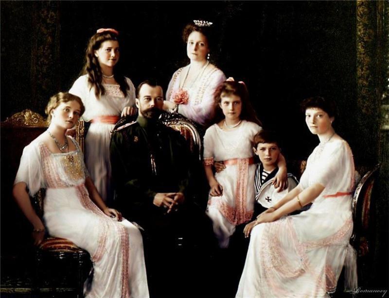 Редкие цветные фотографии семьи Николая Второго