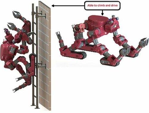 Робот трансформер для спасательных работ