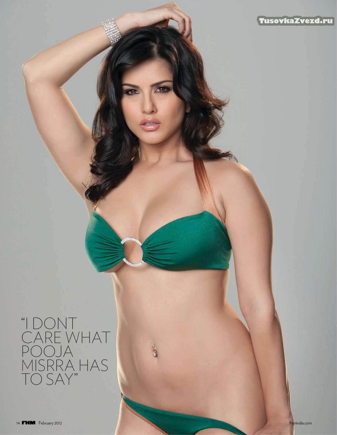 Санни Леоне (Sunny Leone) фото в журнале FHM Индия, февраль 2012