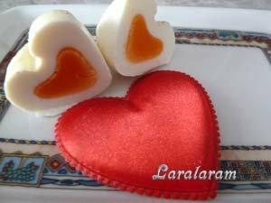 Разрез яйца в виде сердца
