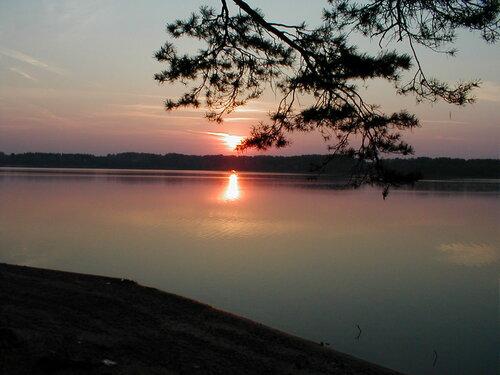 Закат на Истринском водохранилище