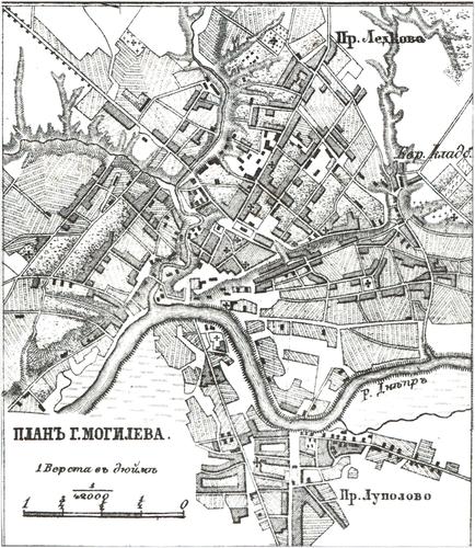 Генплан города Могилева на 1876 год