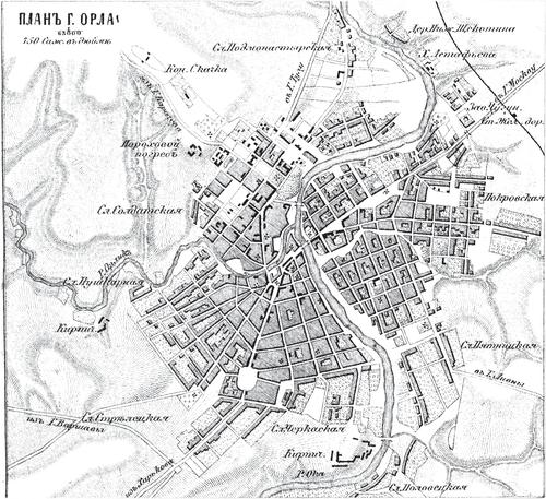 Генплан города Орла на 1876 год