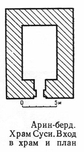 Храм Суси в Арин-берд, план