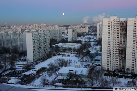 полная луна над москвой
