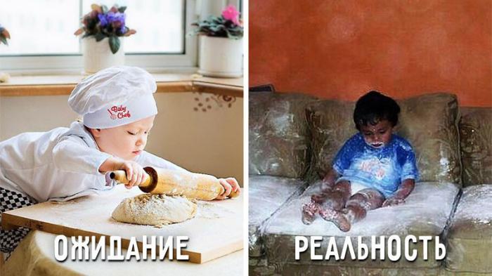 Воспитание детей: ожидание и реальность