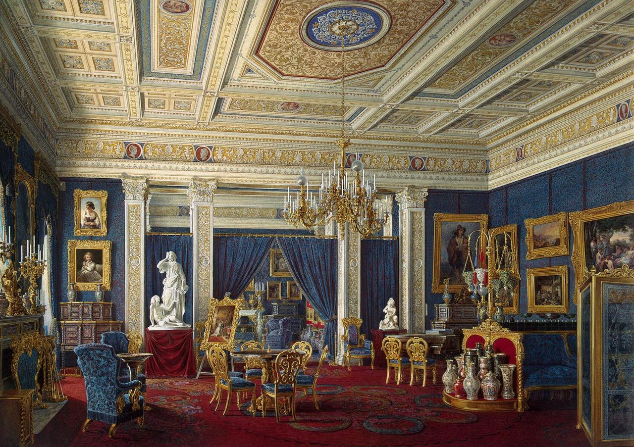 Голубая гостиная в Мариинском дворце