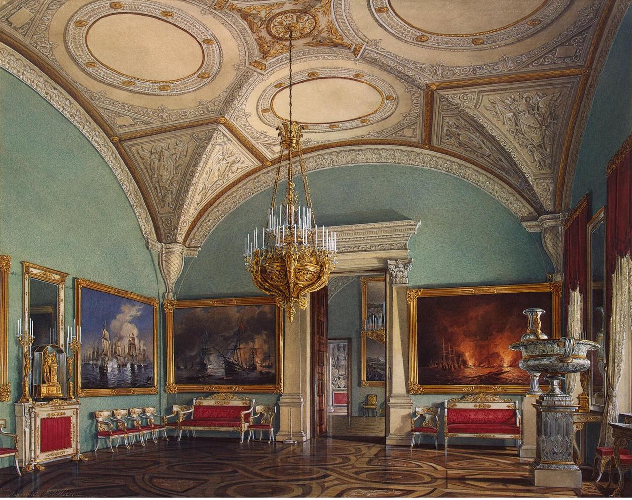 Интерьеры Зимнего дворца. Четвертый зал Военной галереи