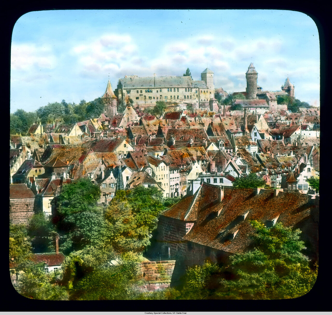 Нюрнберг. Вид старого города и замка