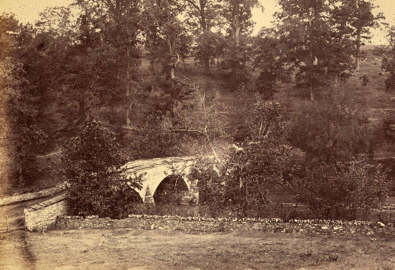 Мост Бернсайд  через реку Энтитем-Крик. Мэриленд. Декабрь 1862 г.