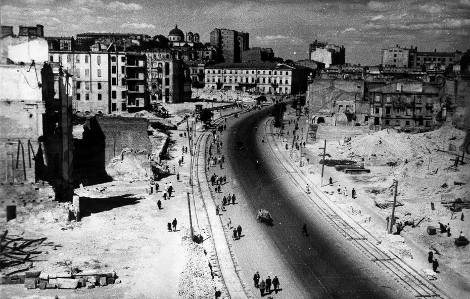 1944. Панорама разрушенного Хрещатика