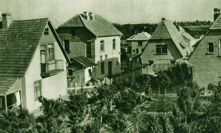 Індивідуальні будинки робітників на Печерську.