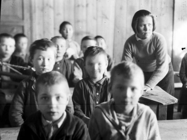 Children at a rural school near the Lower Tunguska River, Irkutsk Region, 1925
