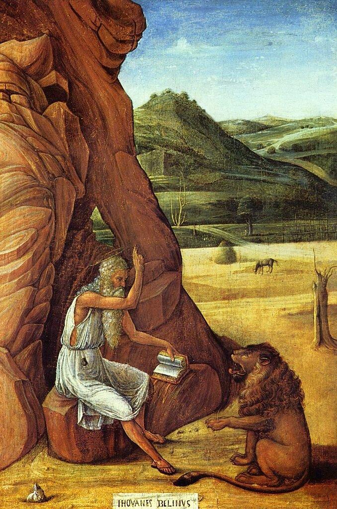 Св. Иероним проповедует льву (ок. 1450), Беллини, Джованни( ок.1430—1433 — 1516);  Бирминтем, Институт Барбера.