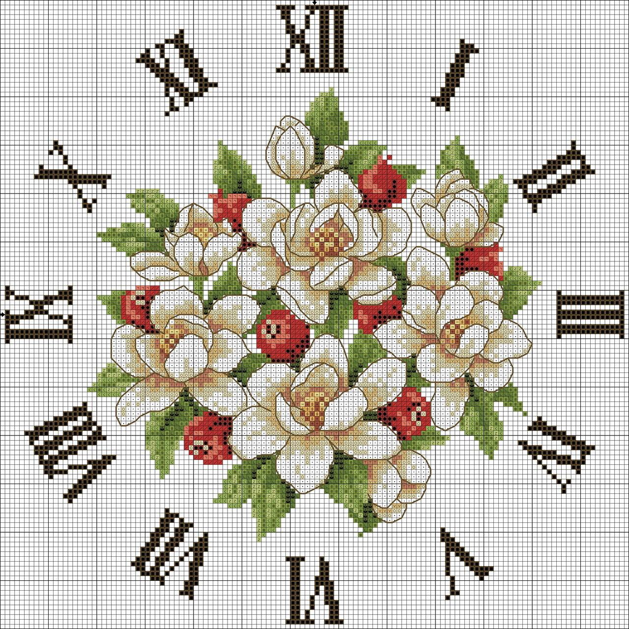 Часы вышивка крестом схемы скачать бесплатно без регистрации