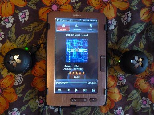 Texet ТВ-760HD (с внешними портативными колонками)
