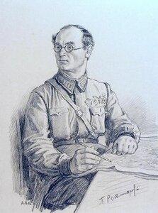Портрет гвардии полковника Павла Алексеевича Ротмистрова. 1942г.