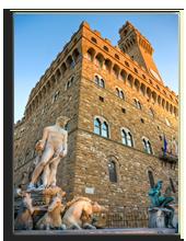 Италия. Флоренция. View of Florence, Palazzo della Signoria from Piazzale Michelangelo. Фото masterlu - Depositphotos