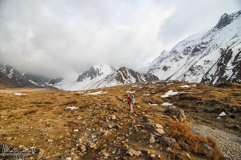 дорога к chaburu, трек вокруг аннапурны, 4200 высота