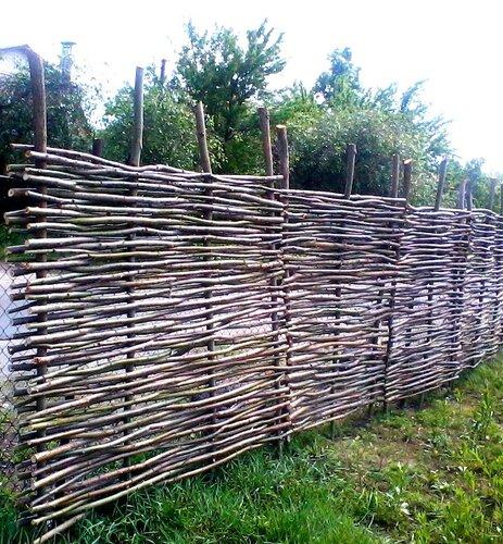 Забор своими руками из лозы