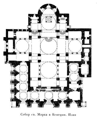 Собор Сан-Марко в Венеции, план