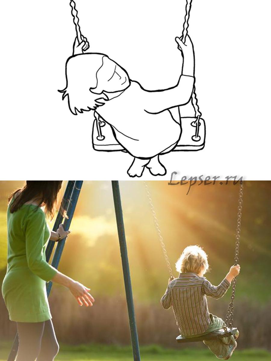 Как правильно фотографироваться позы фото с ребенком