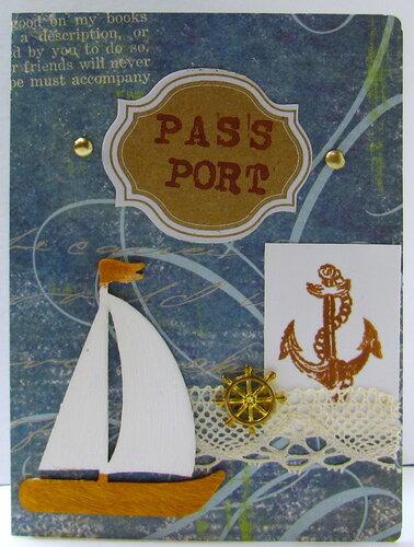 Обложка на паспорт моряка