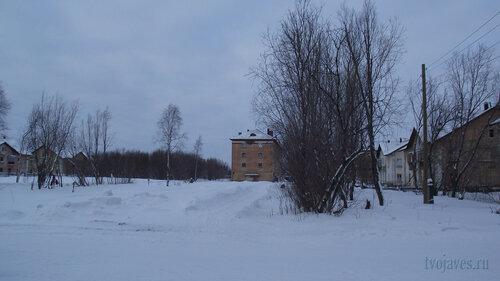Фото города Инта №2822  Коммунистическая 8, 7, Гагарина 9, Коммунистическая 2 и 3 31.01.2013_13:30