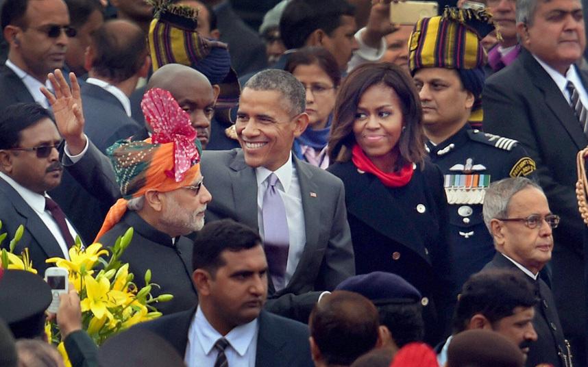 Военный парад в Нью-Дели, Индия, 26 января 2015 года