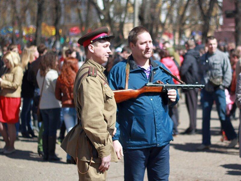 Фото с человеком в военной форме Великой Отечественной войны