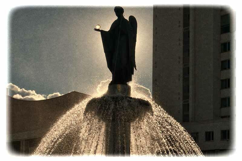 """Белгородский фонтан """"Покровитель"""" - Университетская площадь"""