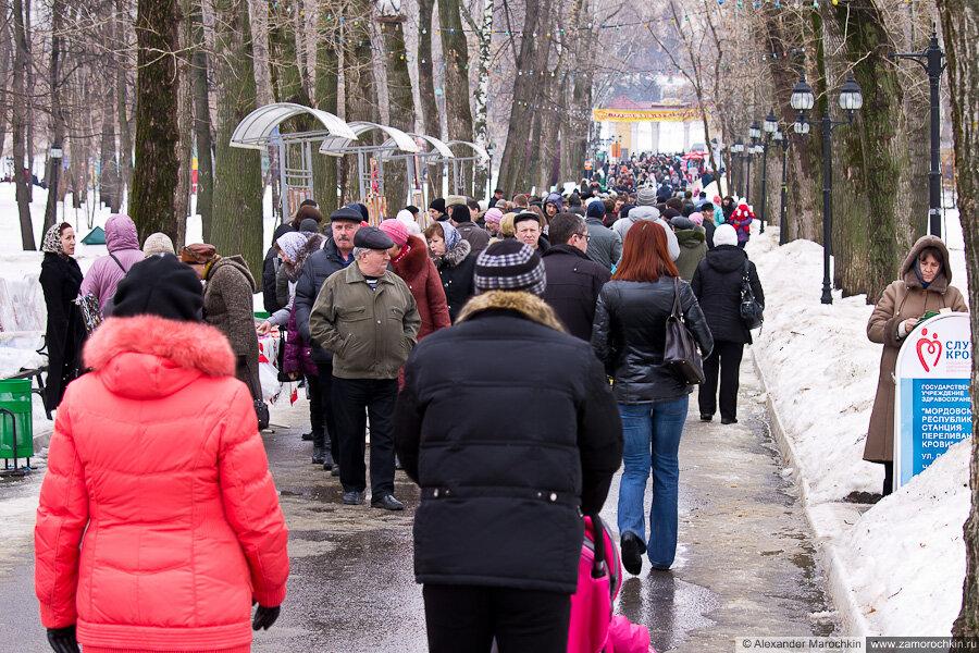 Масленица в городском парке | Саранск, 17.03.2013