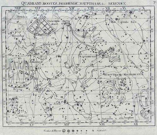 Схема созвездия Геркулеса в